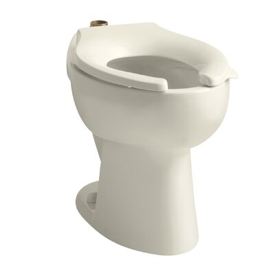 Highcrest 1.6 GPF 16-1/2 Ada Elongated Toilet Bowl with Top Inlet, Requires Seat Finish: Almond