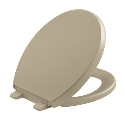 Reveal Quiet-Close with Grip-Tight Round-Front Toilet Seat Finish: Mexican Sand
