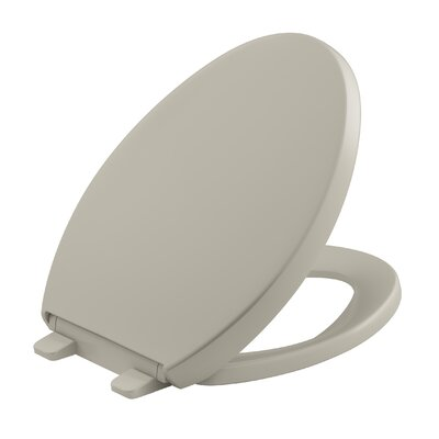 Reveal Quiet-Close with Grip-Tight Elongated Toilet Seat Finish: Sandbar