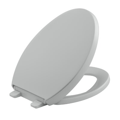 Reveal Quiet-Close with Grip-Tight Elongated Toilet Seat Finish: Ice Grey