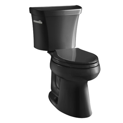 Highline Comfort Height Two-Piece Elongated 1.28 GPF Toilet with Class Five Flush Technology and Left-Hand Trip Lever Finish: Black Black