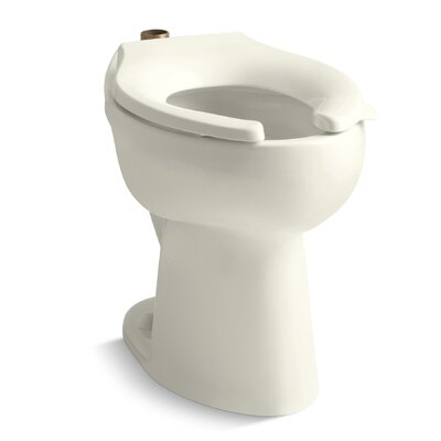 Highcliff 1.6 GPF 17-1/2 Ada Elongated Toilet Bowl with Top Inlet Finish: Biscuit