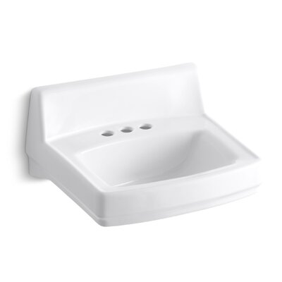 Greenwich 21 Wall Mount Bathroom Sink Finish: White