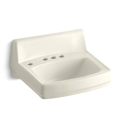 Greenwich Ceramic 21 Wall Mount Bathroom Sink with Overflow Finish: Almond