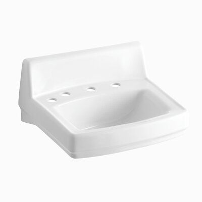 Greenwich Ceramic 21 Wall Mount Bathroom Sink with Overflow Finish: White