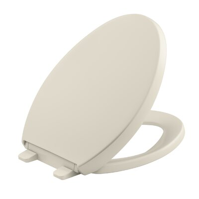 Reveal Quiet-Close with Grip-Tight Elongated Toilet Seat Finish: Almond