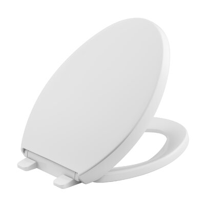 Reveal Quiet-Close with Grip-Tight Elongated Toilet Seat Finish: White