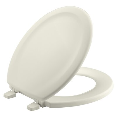 Stonewood with Quick-Release Hinges Round-Front Toilet Seat Finish: Biscuit