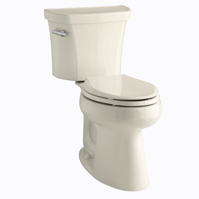 Highline Comfort Height Two-Piece Elongated 1.28 GPF Toilet with Class Five Flush Technology, Left-Hand Trip Lever and Insuliner Tank Liner Finish: Almond