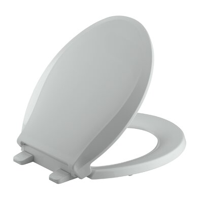 Cachet Quiet-Close with Grip-Tight Round-Front Toilet Seat Finish: Ice Grey