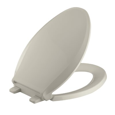 Cachet Quiet-Close with Grip-Tight Elongated Toilet Seat Finish: Sandbar