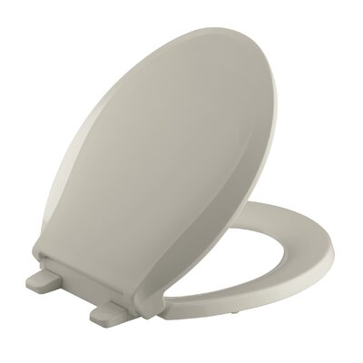 Cachet Quiet-Close with Grip-Tight Round-Front Toilet Seat Finish: Sandbar