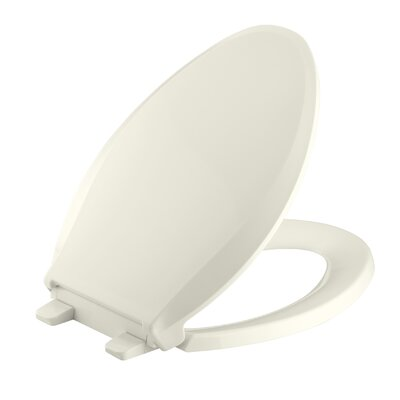 Cachet Quiet-Close with Grip-Tight Elongated Toilet Seat Finish: Biscuit