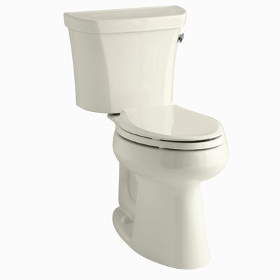 Highline Comfort Height Two-Piece Elongated 1.28 GPF Toilet with Class Five Flush Technology, Right-Hand Trip Lever and Tank Cover Locks Finish: Almond