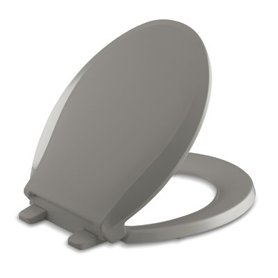 Cachet Quiet-Close with Grip-Tight Round-Front Toilet Seat Finish: Cashmere