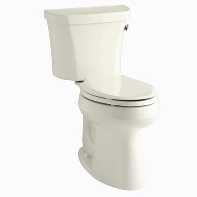 Highline Comfort Height Two-Piece Elongated 1.28 GPF Toilet with Class Five Flush Technology and Right-Hand Trip Lever Finish: Biscuit