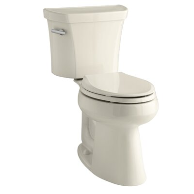 Highline Comfort Height Two-Piece Elongated 1.28 GPF Toilet with Class Five Flush Technology, Left-Hand Trip Lever and Tank Cover Locks Finish: Almond