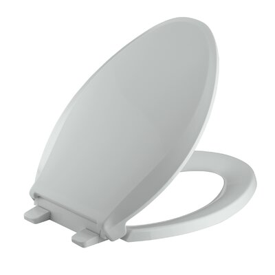 Cachet Quiet-Close with Grip-Tight Elongated Toilet Seat Finish: Ice Grey