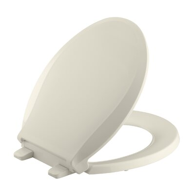 Cachet Quiet-Close with Grip-Tight Round-Front Toilet Seat Finish: Almond