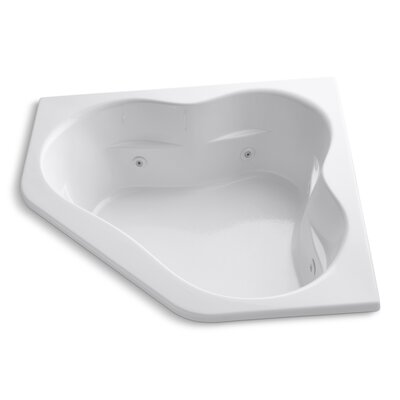 Tercet 60 x 60 Whirlpool Bathtub Finish: White