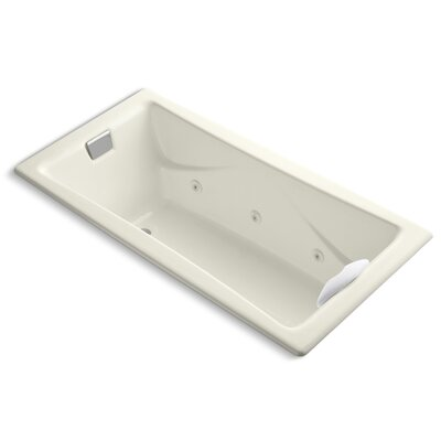 Tea-For-Two 72 x 36 Whirlpool Bathtub Finish: Biscuit