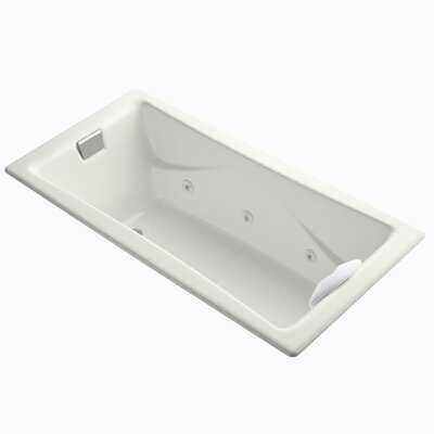 Tea-For-Two 72 x 36 Whirlpool Bathtub Finish: Dune