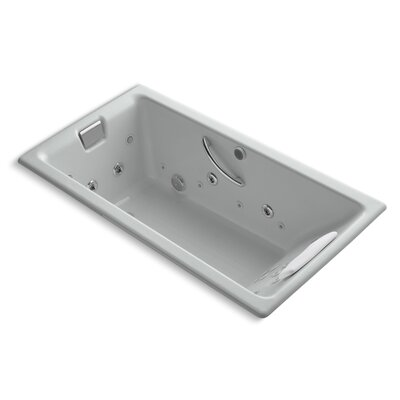 Tea-For-Two 66 x 36 Whirlpool Bathtub Finish: Ice Grey