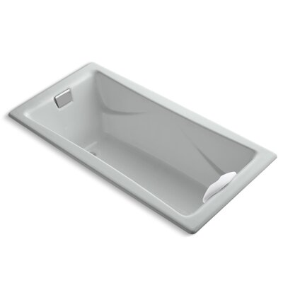 Tea-For-Two 72 x 36 Soaking Bathtub Finish: Ice Grey