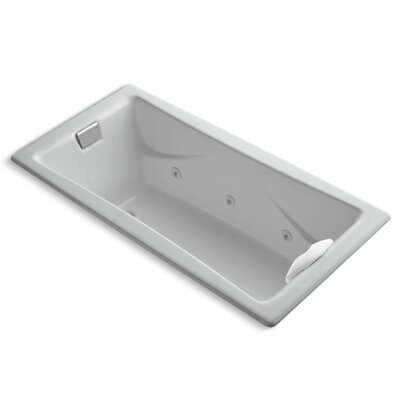 Tea-For-Two 72 x 36 Whirlpool Bathtub Finish: Ice Grey