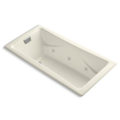 Tea-For-Two 72 x 36 Whirlpool Bathtub Finish: Cashmere