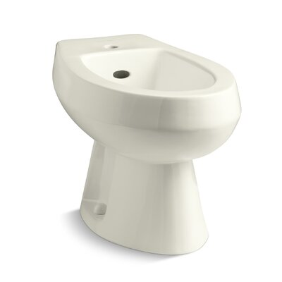 Amaretto Horizontal Spray Bidet with Single Faucet Hole Finish: Biscuit