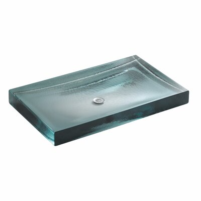 Antilia Glass Rectangular Vessel Bathroom Sink
