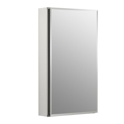 15 W x 26 H Aluminum Single-Door Medicine Cabinet