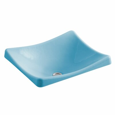 Demilav Wading Pool Specialty Vessel Bathroom Sink Sink Finish: Vapour Blue