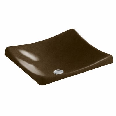 Demilav Wading Pool Specialty Vessel Bathroom Sink Sink Finish: Black n Tan