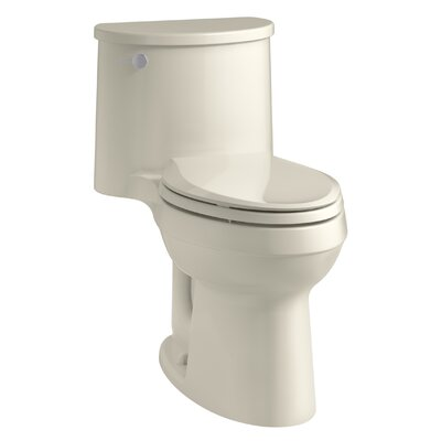 Adair Comfort Height One-Piece Elongated 1.28 GPF Toilet with Aquapiston Flushing Technology and Left-Hand Trip Lever Finish: Almond