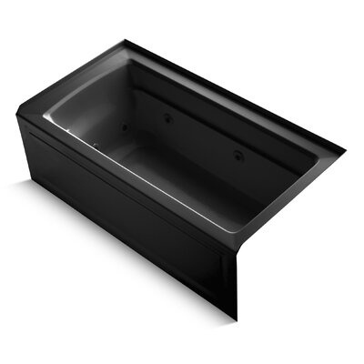 Archer Alcove 60 x 32 Whirpool Bathtub Finish: Black Black