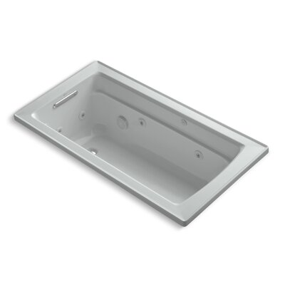 Archer 60 x 32 Whirlpool Bathtub Finish: Ice Grey