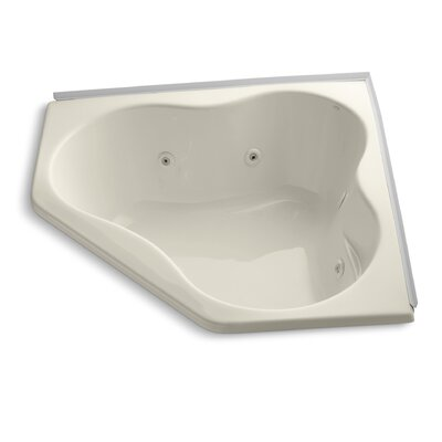 Alcove 54 x 54 Whirpool Bathtub Finish: Almond
