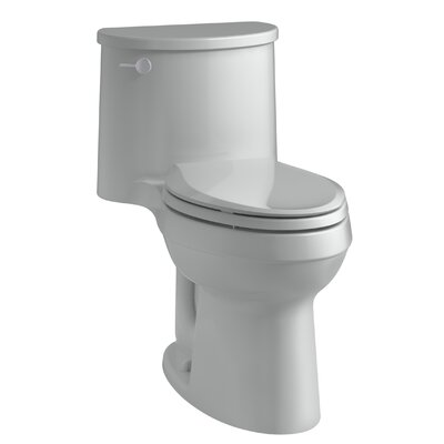 Adair Comfort Height One-Piece Elongated 1.28 GPF Toilet with Aquapiston Flushing Technology and Left-Hand Trip Lever Finish: Ice Grey
