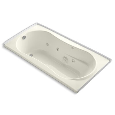 Alcove 72 x 36 Whirpool Bathtub Finish: Biscuit