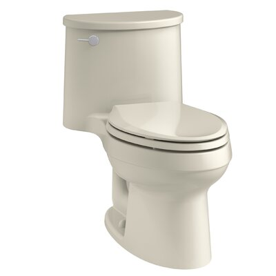 Adair One-Piece Elongated 1.28 GPF Toilet with Aquapiston Flush Technology and Left-Hand Trip Lever Finish: Almond