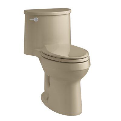 Adair Comfort Height One-Piece Elongated 1.28 GPF Toilet with Aquapiston Flushing Technology and Left-Hand Trip Lever Finish: Mexican Sand