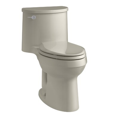 Adair Comfort Height One-Piece Elongated 1.28 GPF Toilet with Aquapiston Flushing Technology and Left-Hand Trip Lever Finish: Sandbar