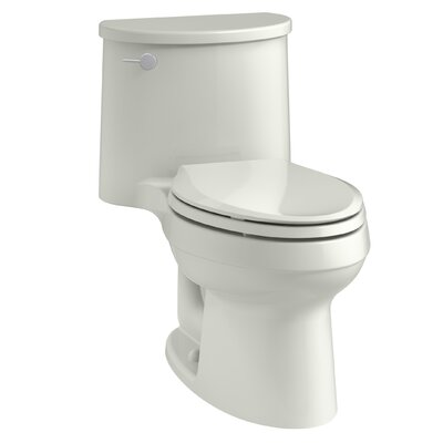 Adair One-Piece Elongated 1.28 GPF Toilet with Aquapiston Flush Technology and Left-Hand Trip Lever Finish: Dune
