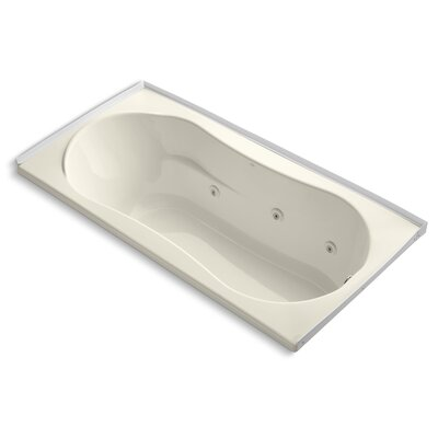 Alcove 72 x 36 Whirpool Bathtub Finish: Almond