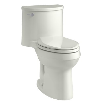 Adair Comfort Height One-Piece Elongated 1.28 GPF Toilet with Aquapiston Flushing Technology and Left-Hand Trip Lever Finish: Dune
