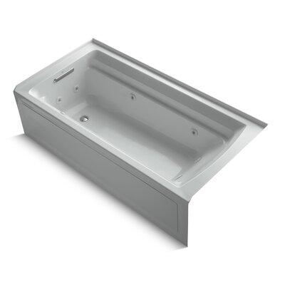 Archer Alcove 72 x 36 Whirpool Bathtub Finish: Ice Grey