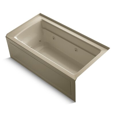 Archer Alcove 60 x 32 Whirpool Bathtub Finish: Mexican Sand