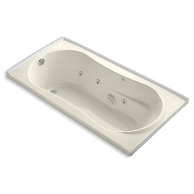 Alcove 72 x 36 Whirpool Bathtub Finish: Almond